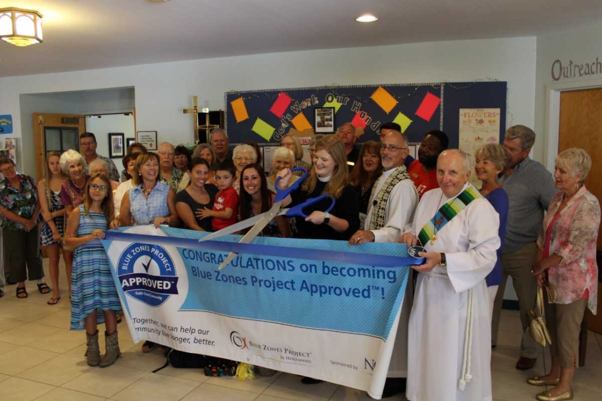 Senior Ministry members during Blue Zones Project of Southwest Florida Ceremony   Christus Victor Lutheran Church Naples & Bonita Springs