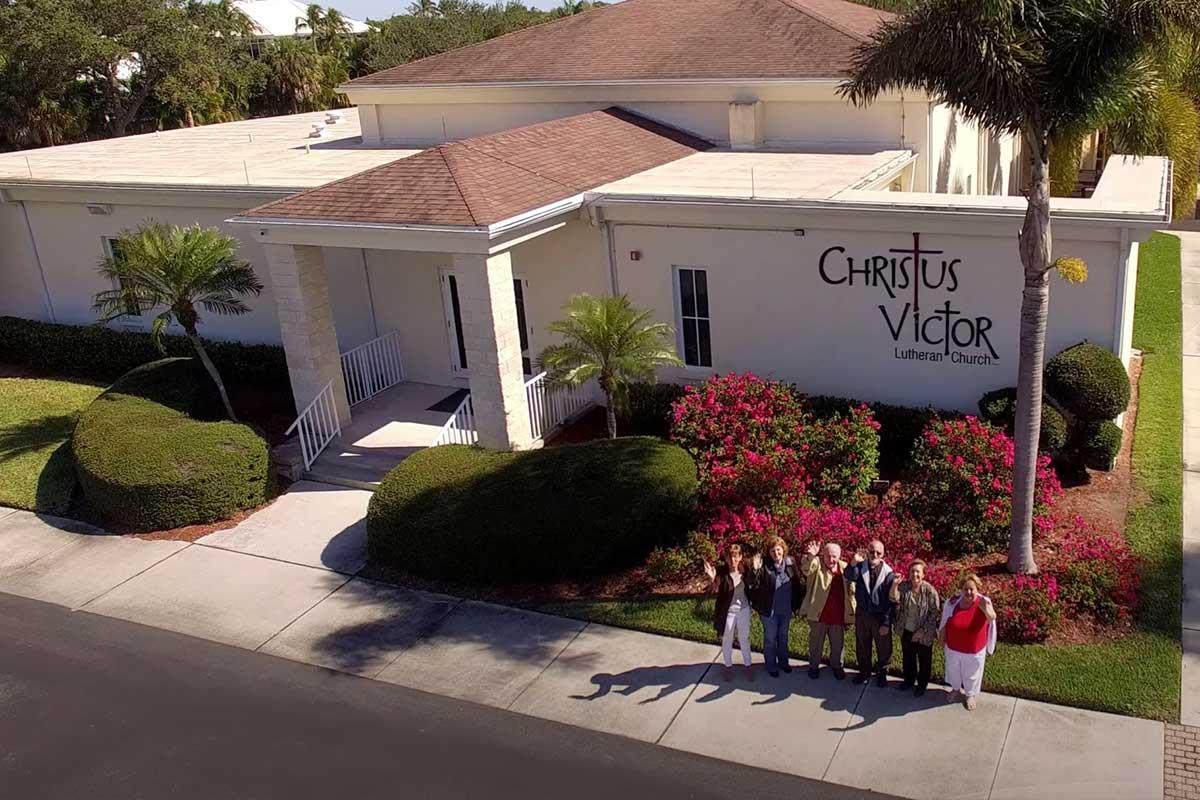 CVLC's church staff outside main building   Christus Victor Lutheran Church Naples & Bonita Springs