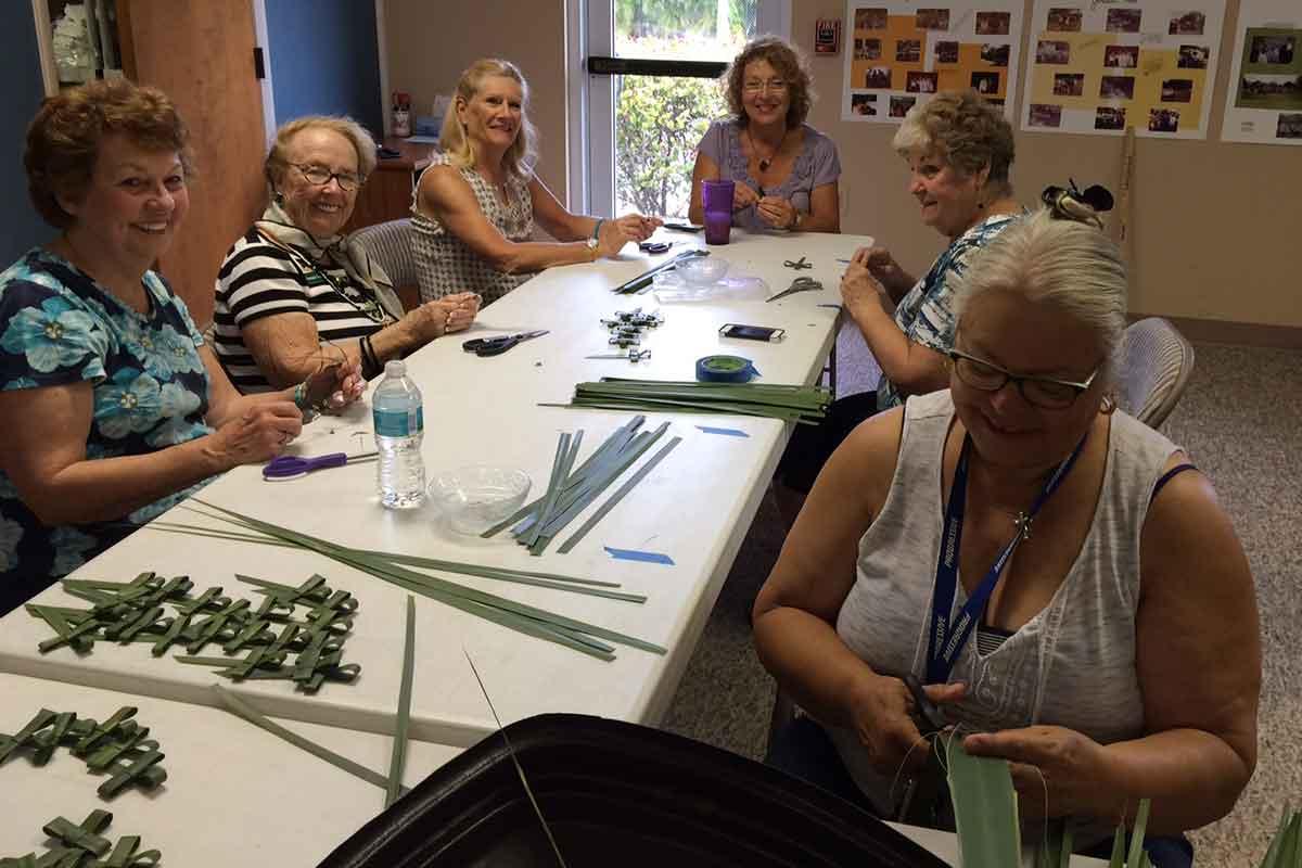The making of palm crosses | Events at Christus Victor Lutheran Church Naples & Bonita Springs