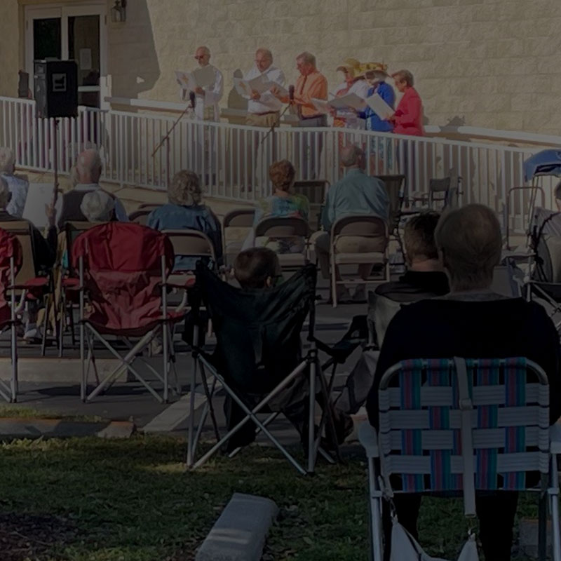 Outdoor Easter service event at Christus Victor Lutheran Church Naples & Bonita Springs | Events