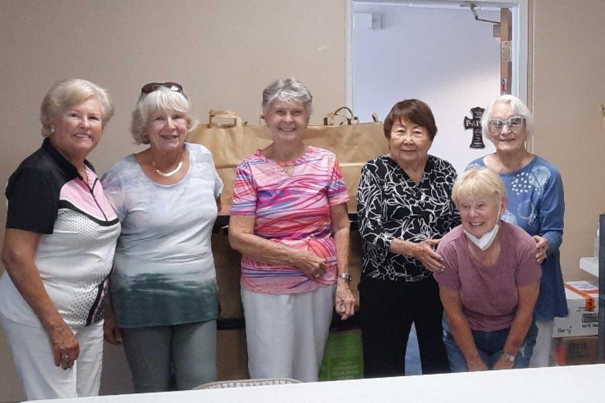 Senior Ministry group during food donation event at CVLC   Christus Victor Lutheran Church Naples & Bonita Springs
