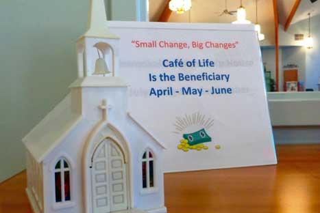 Small Change Minsitry Outreadh on Sunday Mornings at CVLC   Christus Victor Lutheran Church Naples & Bonita Springs
