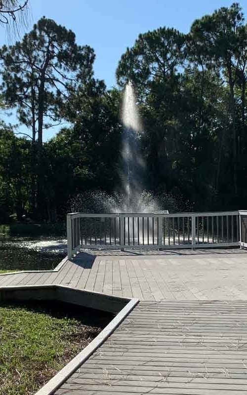 Walkway path to our fountain in Victory Park   Christus Victor Lutheran Church Naples and Bonita Springs