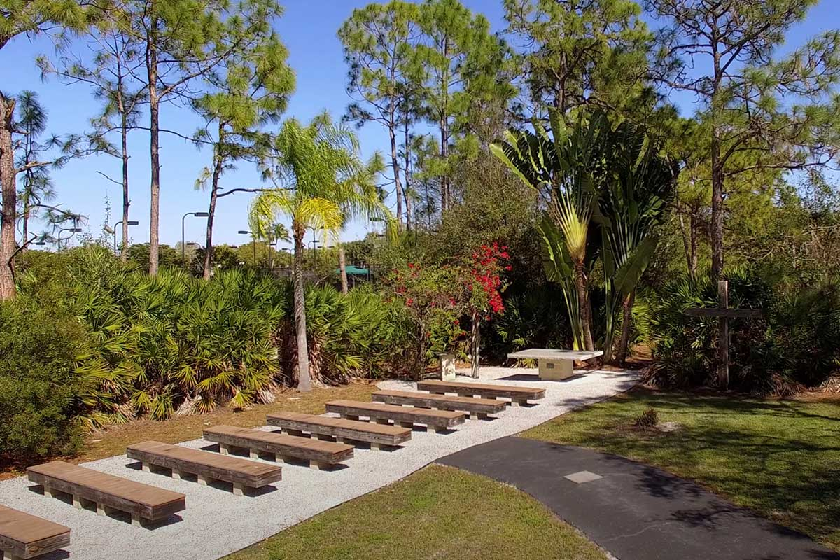CVLC's Victory Park worship area used for worship services   Christus Victor Lutheran Church Naples & Bonita Springs