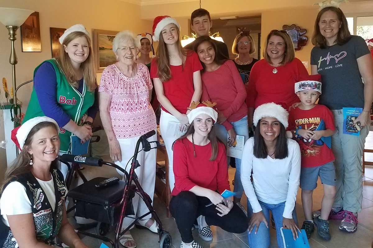 CVLC's Youth Group at an assisted living facility | Christus Victor Lutheran Church Naples & Bonita Springs