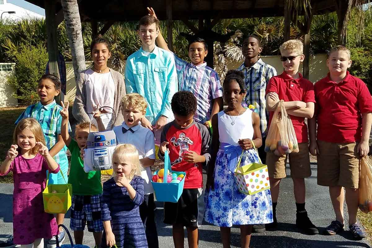 CVLC's Youth at a group Easter egg hunt | Christus Victor Lutheran Church Naples & Bonita Springs